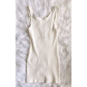 //VINTAGE// 90s White Low Back Mini Dress